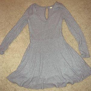 Grey Hollister skater dress with keyhole back